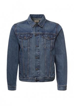Куртка джинсовая Gap. Цвет: синий