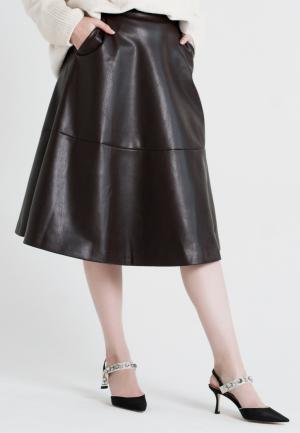 Юбка UNNA. Цвет: коричневый