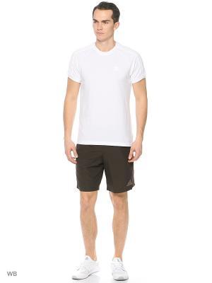 Спортивные шорты (трикотаж) Adidas. Цвет: черный, темно-коричневый
