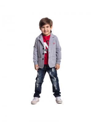 Пиджак PlayToday. Цвет: серый