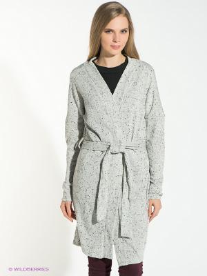 Кардиган Vero moda. Цвет: серый меланж, белый, черный