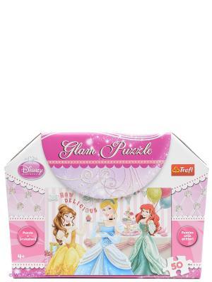 Пазл  Принцессы Trefl. Цвет: розовый