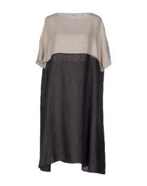 Платье до колена A.B APUNTOB. Цвет: какао