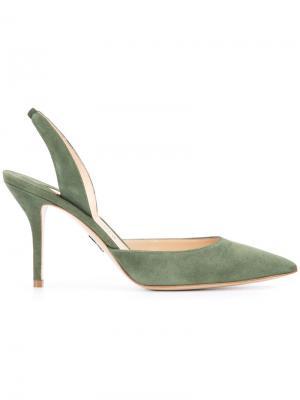 Туфли с заостренным носком Paul Andrew. Цвет: зелёный