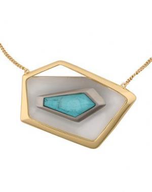 Ожерелье ALEXIS BITTAR. Цвет: бирюзовый