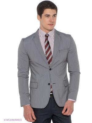 Пиджак ABSOLUTEX. Цвет: синий, светло-серый