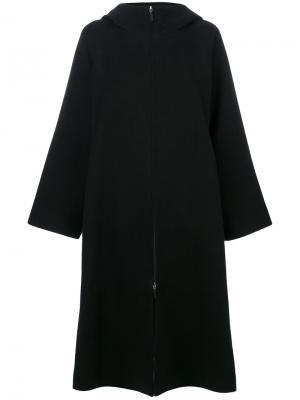 Hooded cape coat The Row. Цвет: чёрный