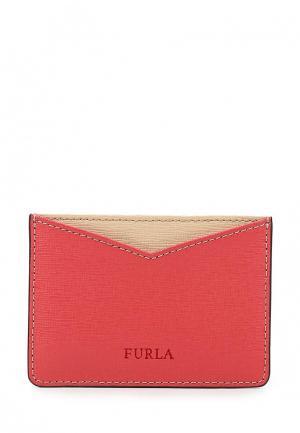 Визитница Furla. Цвет: коралловый