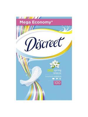 Женские гигиенические прокладки на каждый день Deo Spring Breeze Multiform, 100шт DISCREET. Цвет: белый, темно-синий
