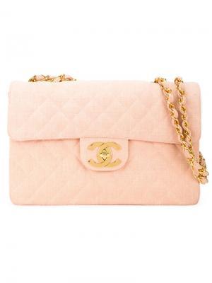 Стеганая сумка на плечо Chanel Vintage. Цвет: розовый и фиолетовый