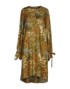 Платье до колена LAVINIATURRA. Цвет: зеленый-милитари