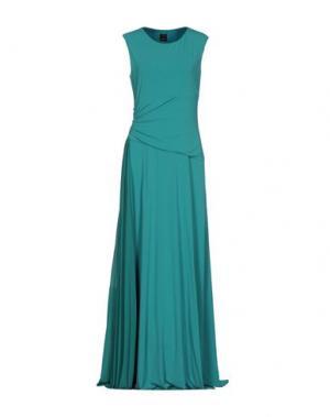 Длинное платье PINKO. Цвет: светло-зеленый