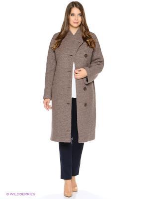 Пальто Anora. Цвет: серо-коричневый