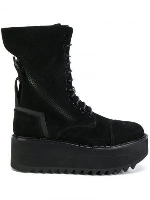 Vibram wedge boots Bruno Bordese. Цвет: чёрный