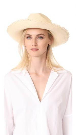 Классическая шляпа с широкими полями и бахромой Artesano. Цвет: натуральный/мульти