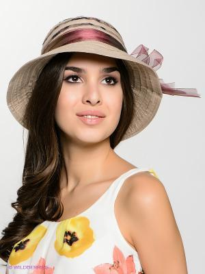 Шляпа FOMAS. Цвет: бежевый, бордовый