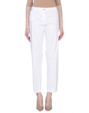 Повседневные брюки L.P. di L. PUCCI. Цвет: белый