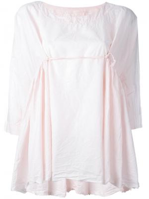 Ruffle-detail blouse Daniela Gregis. Цвет: розовый и фиолетовый