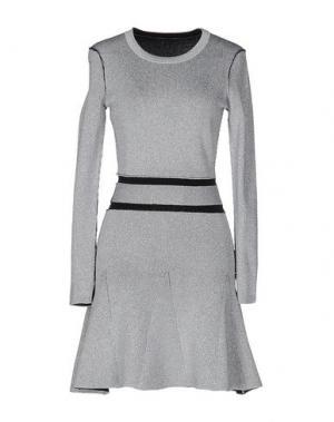 Короткое платье DAGMAR. Цвет: серебристый