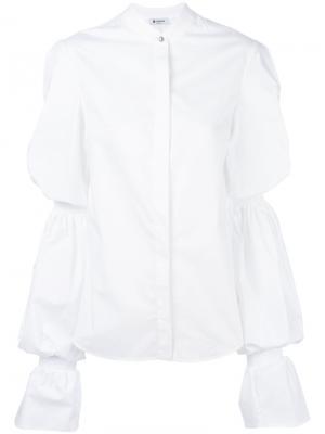 Рубашка с присборенными рукавами Dondup. Цвет: белый