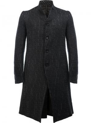Пальто с металлизированными полосками Masnada. Цвет: чёрный