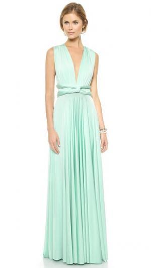 Универсальное макси-платье Twobirds. Цвет: голубой