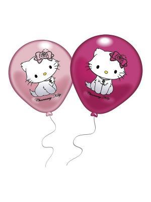 8 шариков с рисунком Hello Kitty Everts. Цвет: розовый