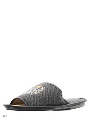 Тапочки PANTOLETTI. Цвет: серый