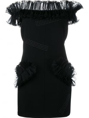 Короткое платье Hotfix Christopher Kane. Цвет: чёрный