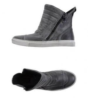 Высокие кеды и кроссовки W DABLIU. Цвет: свинцово-серый