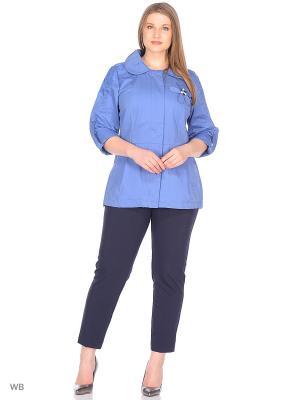 Ветровка SML. Цвет: серо-голубой