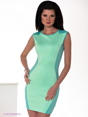 Платье Ibby Libby. Цвет: бирюзовый, светло-зеленый