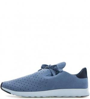 Синие кроссовки с перфорацией Native. Цвет: синий