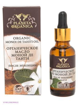 Масло для тела органическое моной де таити , после эпиляции, 30мл. PLANETA ORGANICA. Цвет: коричневый