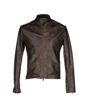 Куртка ROBERTO PEPE. Цвет: темно-коричневый