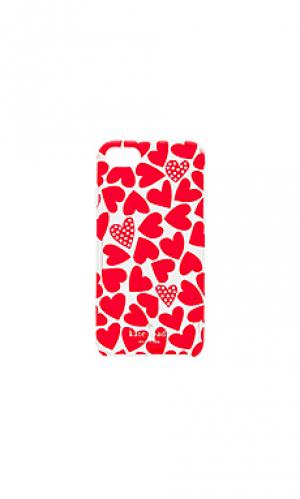 Чехол для iphone 7 scattered hearts kate spade new york. Цвет: красный