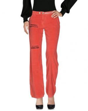 Повседневные брюки DANIELA DALLA VALLE ELISA CAVALETTI. Цвет: коралловый