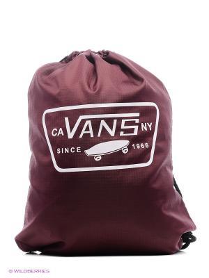 Сумка-мешок VANS. Цвет: бордовый