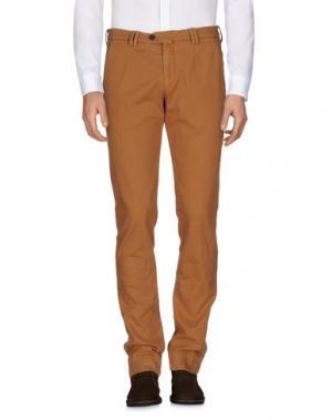 Повседневные брюки B SETTECENTO. Цвет: верблюжий