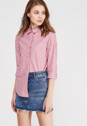 Рубашка Springfield. Цвет: розовый