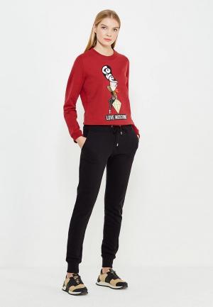 Свитшот Love Moschino. Цвет: красный