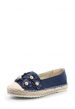 Эспадрильи Ideal Shoes. Цвет: синий