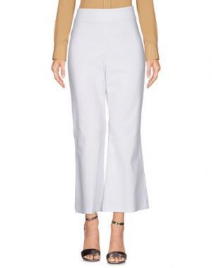 Повседневные брюки TOLÈRANCE. Цвет: белый