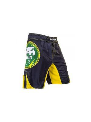 Шорты ММА Venum All Sports FightShorts Brazil Edition. Цвет: желтый, черный, зеленый