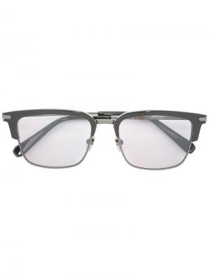 Солнцезащитные очки в квадратной оправе Brioni. Цвет: чёрный