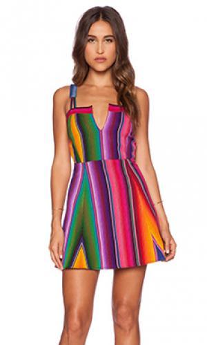 Платье с юбкой солнце-клеш hacienda STELA 9. Цвет: розовый