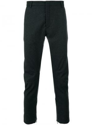 Зауженные брюки Lanvin. Цвет: серый