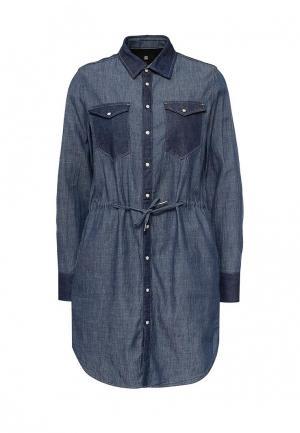 Платье джинсовое G-Star. Цвет: синий