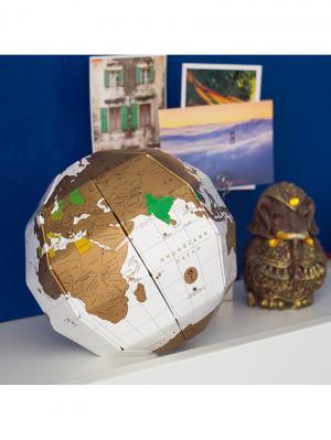 Глобус со скретч слоем True World BADLAB. Цвет: белый