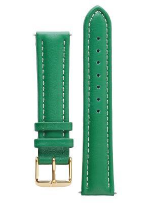 Гипоалергенный ремешок для часов из кожи теленка. Ширина от 16 до 18 мм Signature. Цвет: зеленый